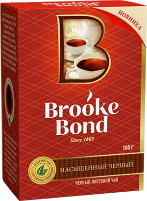 Brooke Bond  Брук Бонд листовой 100 гр  карт пачка