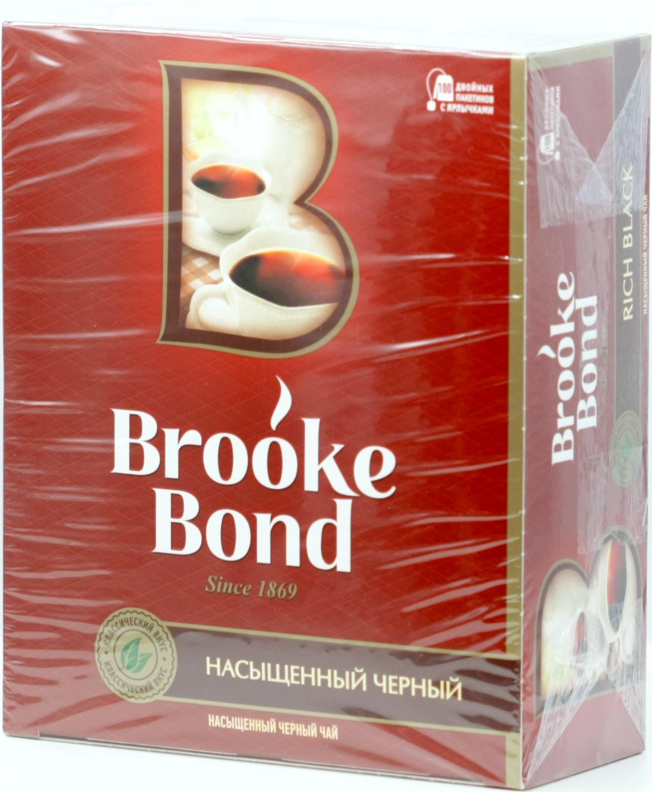Brooke Bond  Брук Бонд карт пачка, 100 пак  - Чай&Кофе ОПТ