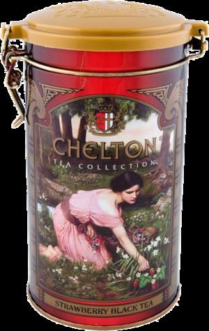 CHELTON. Черный чай с земляникой 120 гр. жест.банка