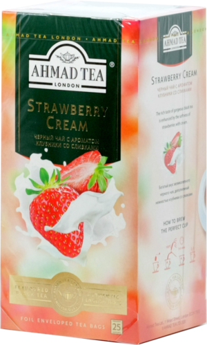 AHMAD. Strawberry Cream (клубника, сливки) карт.пачка, 25 пак.