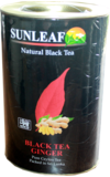 Sun Leaf. Black Tea Ginger 75 гр. картонная туба