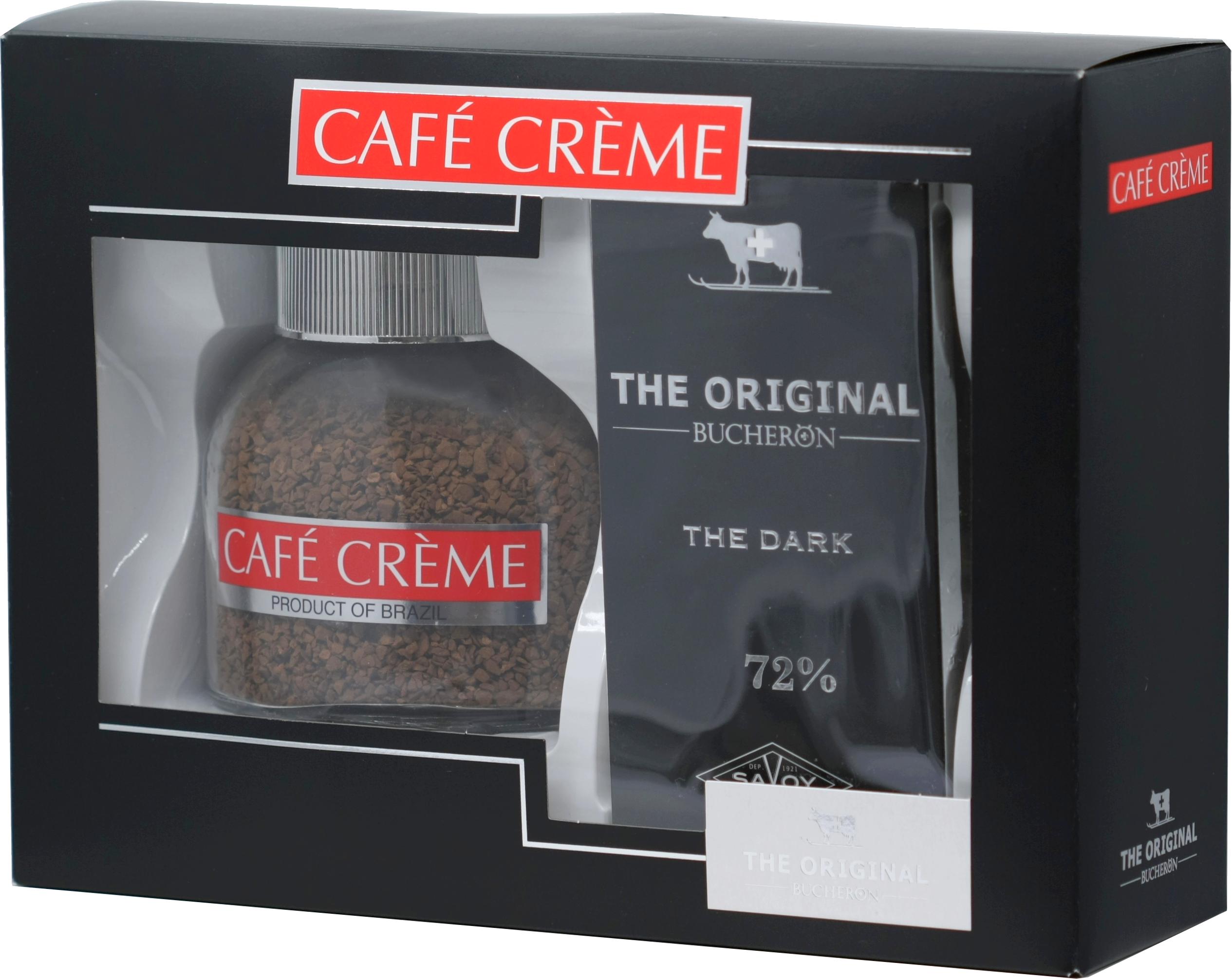 CAFE CREME. Подарочный набор Cafe Creme + Swiss Original  горький 200 гр. карт.упаковка