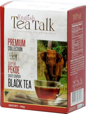 English Tea Talk. Black tea PEKOE 100 гр. карт.пачка