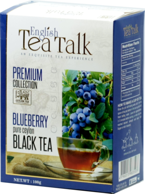 English Tea Talk. Black tea Blueberry 100 гр. карт.пачка