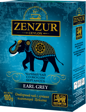 Zenzur. Earl Grey 100 гр. карт.пачка