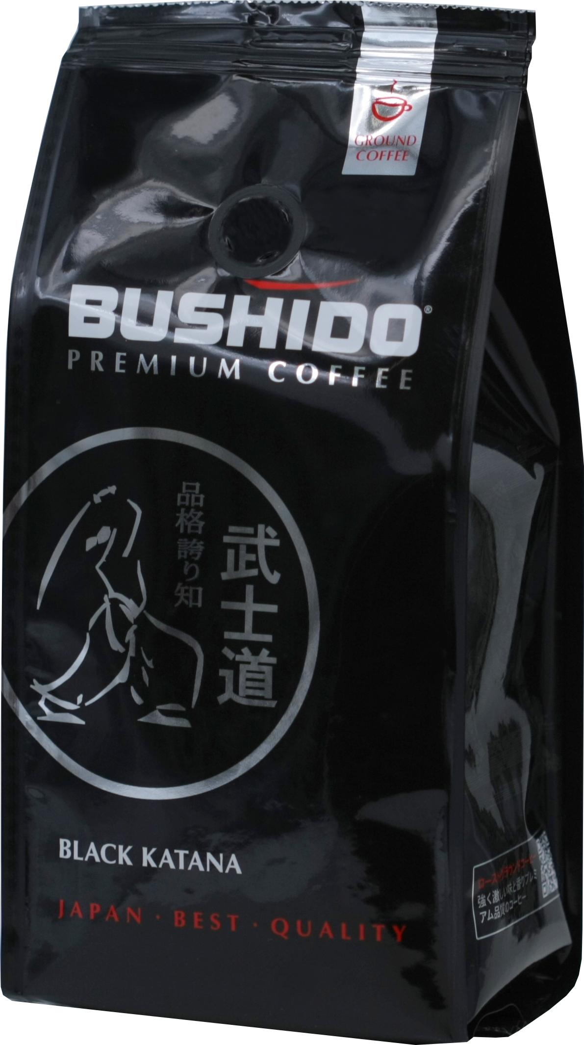 BUSHIDO. Black Katana молотый 227 гр. мягкая упаковка