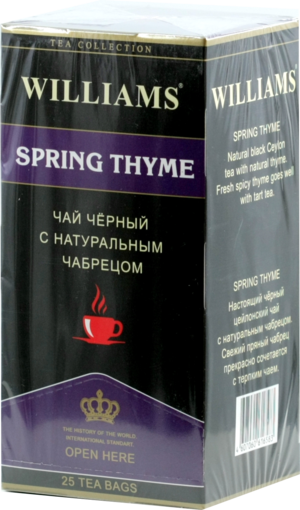 WILLIAMS. Spring Thyme карт.пачка, 25 пак.