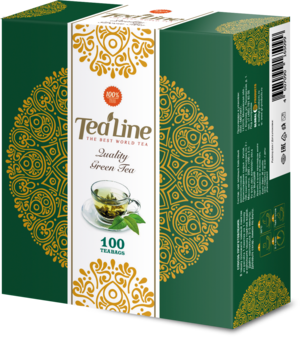 Tea Line. High Quality Green Tea карт.пачка, 100 пак.