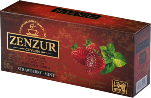Zenzur. Strawberry&Mint 50 гр. карт.пачка, 25 пак.